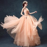 Wholesale Ball Gown Real Images Vestido De Novia Tulle Wedding Dress with flowers Bridal Dresses Robe de Marriage pink Wedding Gowns free send by DHL