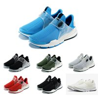 authentic boots - Drop Shipping Running Shoes Men Women Fragment Sock Dart Sneakers Boots Authentic Hot Sale Discount Sports Shoes Size