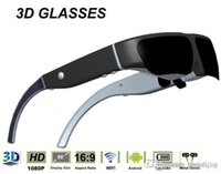 Wholesale 98 inches Andorid intelligent D glasses one built in lithium battery GB WIFI function Max32GB DHL