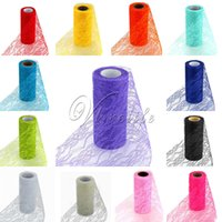 Wholesale 10PCS Tulle Roll Spool Lace Roll quot x10YD Netting Fabric Tutu Skirt Chair Sash Bow Table Runner Lace Fabric Wedding Decorations Top quality