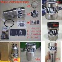 Wholesale All YETI oz oz oz oz oz oz oz Bottle Cup Mug Ounce Colster Spillproof Matte Coated Painted Colored pamphlets with Clear Lid
