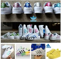 Wholesale Original adidas Superstar Shoes Running Classic Mens and Women Superstars Originals Sneakers Skateboarding black Casual Shoe