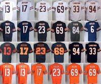 allen sports - NWT Alshon Jeffery Jerseys Uniforms Sports Kyle Fuller Kevin White Jersey Jared Allen Jay Cutler Home Navy Blue White Orange