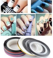 Wholesale Fashion Color Rolls Striping Tape Line Nail Art Decoration Sticker Nail Art Colors Nail Patterns Highlight Nail Wraps Sticker F459