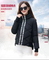 Wholesale Europe station new autumn and winter women s large size women s European and American fashion short section of small cotton padded coat irre