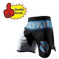 all'ingrosso hayabusa mma-Hayabusa - MMA Blu Lycra pantaloncini lotta / Muay Thai / boxe