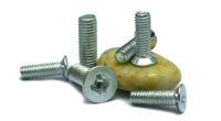 Wholesale Grade steel countersunk head machine screw tap type cross machine flat screw M3 M4