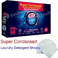 Wholesale 2016 Hot Super Condensed Launday Detergent Sheets with Germany Nano Technology no phosphor no harmful chemicals OEM Order Welcome set