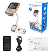 Wholesale Hands free Bluetooth Car Kit MP3 Audio Player FM Transmitter Wireless FM Modulator Radio Adapter LCD Display USB Charger for iPhone iPad Sa