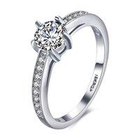 amazing promise rings - Women s Platinum plated Promise Engagement Inlaid Band Zircon Amazing Wedding Ring Size Mix Order Avivahc