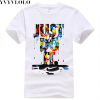 Wholesale New Fashion T shirt Brand Clothing Just Do It Letter Print Men T Shirt Summer Sport Top Tees Streetwear Anime Male Tshirt