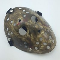 adult dirty halloween costumes - Antique black dirty Jason mask Cosplay Full Face Killer Mask Jason vs Friday Horror Hockey Halloween Costume Scary Mask