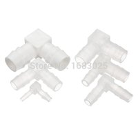 barbed fitting - 2015 High Standard Suitable Non toxic Clear L Piece Elbow Plastic Barbed Connectors Tube Joiner Hose Pipe Fitting Adapter