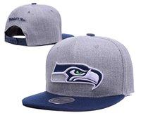 Wholesale 2016 Seahawks Snapback Fashion Football Team Snapbacks Adjustable Sports Cap Embroidered Golf Hat Men Women Summer Sun Hats Visor Caps LH
