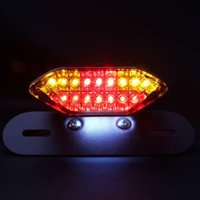 Wholesale Universal White Red Motorcycle Portable Integrated LED Brake Turn Signals Tail Lights Motorbike Rear Turn Indicators Accessories