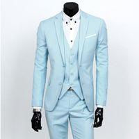 Wholesale Hot groom wedding dress suit A three piece men suit business attire