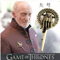 animal hand signs - 18pcs gold plated alloy punk Game of Thrones Imperial Prime Minister badge mark sign Hand of the King Brooch pins Corsage xz009