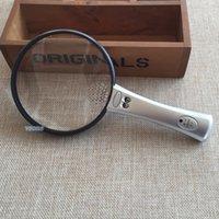90mm gros-10X 20X double lentille Illuminated Bureau des ménages loupe de lecture de poche Loupe Loupe avec 2 Lumières LED