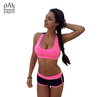 Wholesale Women yoga clothing Women Sport Yoga Set For Gym Running Sport Wear Suit Elasticity Girl Fitness Clothing Workout For Women T25
