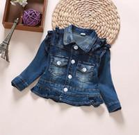 Cheap Jeans Jacket Children Outwear Girls Cute | Free Shipping