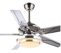 Wholesale Ceiling fan lights modern minimalist restaurant living room inch inch remote control fan ceiling lights LED four light