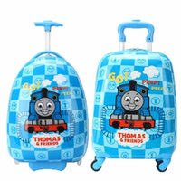 bag trolley wheels - 16 Boys Thomas Train Design Luggage Children Tomas School Bags With Wheels Kids Cartoon Travel Suitcase Trolley Bags