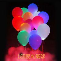 Wholesale 50pcs LED helium Air Mixed Colors Balloon Wedding Light Up Decoration Party
