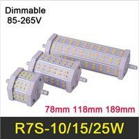 Lampe HOT R7S LED 10W Ampoule 15W 78mm 118mm 25W 189mm SMD5730 85-265V Lampada LED R7S Lumière dimmerable Remplacer lampes halogènes