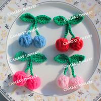 Precio de Cosiendo flores 3d-La mezcla hecha a mano 3D de 35pcs de los colores de la mezcla florece las flores Crocheted la ropa Applique de los remiendos DIY que hace punto la flor material hecha punto