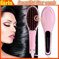 aluminum star - Beautiful Star Hair Brush Comb Straightener Style NASV Hair Straight Hair Styling Tool Flat Iron Hair Straightener VS mason hair brush