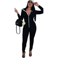 Cheap Women's Tracksuit Winter New 2016 Sports Sweatshirt +pant Black Hoodies Casual Jogging Suits For Women One Piece Set Pullovers