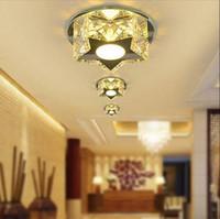 Wholesale A corridor lamp crystal lamp lights home entrance hall corridor ceiling lighting LED crystal downlight balcony