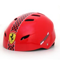 Wholesale Ferrari Fashion Inline Skate Scooter Helmet BMX Cycling Skateboard Sports Protect Head Safety Colors Size M L