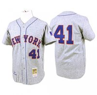 Wholesale New York Mets Tom Seaver Throwback Cream Hemp Gray White MLB Baseball Jerseys Cheap