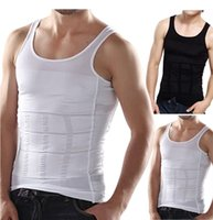 Wholesale Men s Slim Moisture Minus the Beer Belly Shaping Underwear Abdomen Body Sculpting Vest Shapers Body Sculpting T shirt Body Shaper