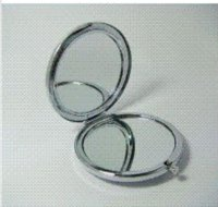 Wholesale 10pcs compact mirror DIY Portable Metal cosmetic mirror silver amp copper DHL copper function
