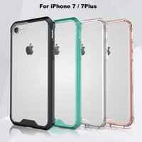 apple i phone - 2016 New Arrive Hybrid iPhone7 Case for iPhone Plus Super Thin Clear TPU i Phone Case Colors