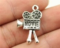 antique movie cameras - WYSIWYG mm antique silver plated movie camera charms