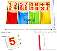 Wholesale Montessori Preschool stick figures counting aids Children s nursery toys counting rods aids
