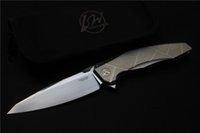 apache ah - High quality LW AH APACHE knife Blade M390 satin Handle TC4 Plane bearing outdoor camping Folding knife EDC