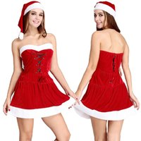 Wholesale Europe and the United States Christmas Santa suit suit that wipe a bosom and hat women s