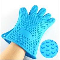 Микроволновая печь 168g Силиконовые Барбекю перчатки Изолированная Готовить Кухня выпекание Инструмент Выпечка жаропрочных перчатки духовки Пот Держатель