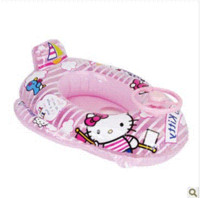 Wholesale Pool boat sitting on the children swimming circle baby swim ring child ship inflatable