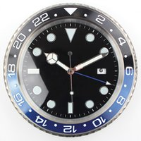 Wholesale XL size Top Design Quality Metal Watch Shape Wall Clock with Silent Mechanism