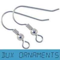 shepherd hooks - French Fish Earring hooks sterlingSilver Plated earring hooks silver findings Iron Shepherd Hooks mm