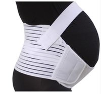 Wholesale Maternity Back Support Belt Brace Belly Abdomen Band Size S M L Pregnant Belly Band Belt Color White