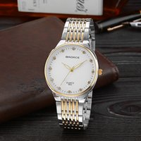 band collection - New Model Slim Collection Fashion Simple Dial Crystal Badace Men Luxury Steel Band Quartz Watches