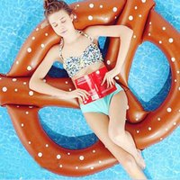 air buoy - Adults Kids Pretzel Swimming Pool Floats Air Mattress Inflatable Circle Ring Bed Buoy Kickboard Water Boat Toys Summer Party Fun
