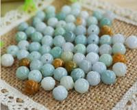 Wholesale 8 mm jade lotus loose bead jade jade beads scattered beads A cargo lotus bracelet necklace Loose Beads Burmese Jade DIY accessories