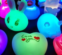 Wholesale Color Changing Beautiful Cute Cartoon Night Light Lamp Color Changing LED Night Light baby toys